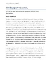 Heldagsprøve i norsk, ansvar i foreldrerollen + kvinnesyn