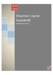 Norsk | Eksamen i norsk hovedmål