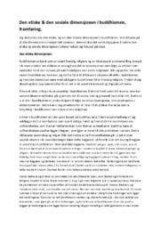 Den etiske & den sosiale dimensjonen i buddhismen | Religion