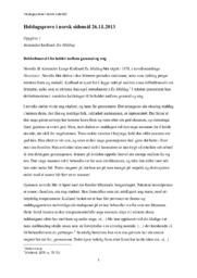 Heldagsprøve i norsk   Alexander Kielland: En Middag   Analyse