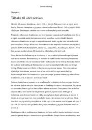 Tilbake til det norske | Sammenlikning