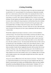 A lasting friendship | Essay