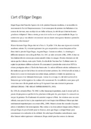 L'art d'Edgar Degas | Essay