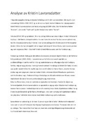 Analyse av Kristin Lavransdatter