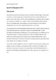 Spansk heldagsprøve 2013