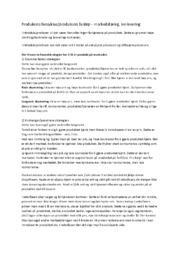 Produktets livssyklus/produktets livsløp – markedsføring, innlevering