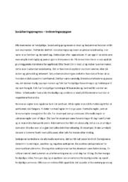 Sosialiseringsprogress – innleveringsoppgave