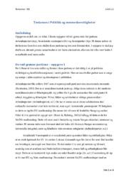 Tentamen i Politikk og menneskerettigheter