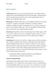 Kortsvarsoppgave & Langsvarsoppgave 3a | Religion