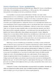 Victoria av Knut Hamsun – Person- og miljøskildring
