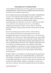 Sosialiseringsprosessen i et psykologisk perspektiv