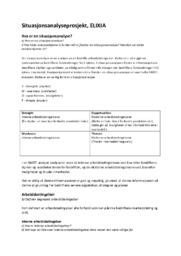 Situasjonsanalyseprosjekt, ELIXIA | Markedsførings & ledelse