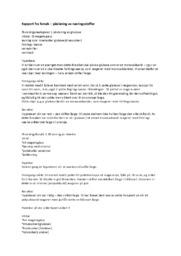 Rapport fra forsøk – påvisning av næringsstoffer
