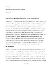 Imperialisme og religion: Dannelsen av det moderne India