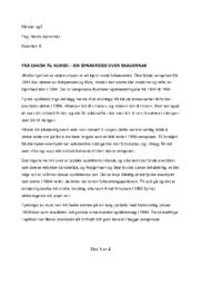 Frå dansk til norsk – ein språkreise over skagerrak