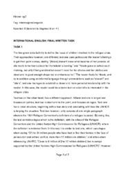 international english: final written task