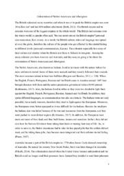 Colonization of Native Americans and Aborigines
