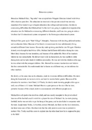 The blind side | Essay