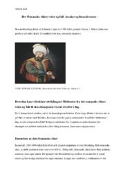 Det Osmanske rikets vekst og fall: årsaker og konsekvenser