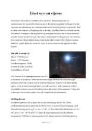 Livet som en stjerne | Fysikk