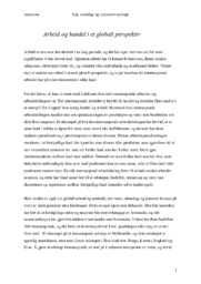 Arbeid & Handel i et Globalt Perspektiv