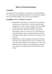 Manus til historiepresentasjon | Mahatma Gandhi