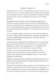 Bestemor søv | Tolkning & Analyse