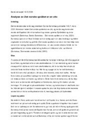 Det norske språket er en vits | Analyse