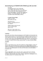 Sammenligning av dikt | et barn på en strand & et dikt uten tittel