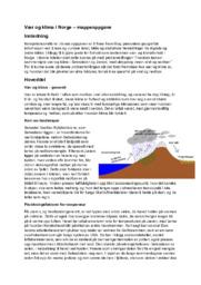 Vær og klima i Norge – mappeoppgave