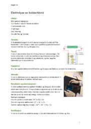 Elektrolyse av kobberklorid   Naturfag Rapport