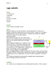 Lage solcelle Rapport | Naturfag