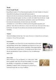 Tysk | Muntlig presentasjon om musikk og dans i Østerrike