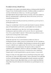 Personlighetsvurdering av Donald Trump | Psykologi
