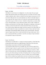 To noveller om kjærlighet   Gro Dahle &  Knut Hamsun