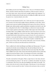 Bridget Jones   Analyse   Engelsk Oppgave