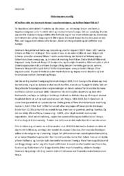 Norge blir selvstendig | Historieprøve muntlig