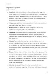 Demokrati begreper kapittel 6 | Samfunnsfag