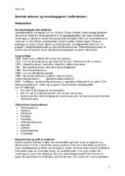 Sentrale sektorer og hovedoppgaver i velferdsstaten   Sosialkunnskap