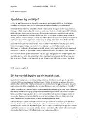 Modernismen | Skriveøkt innlevering norsk