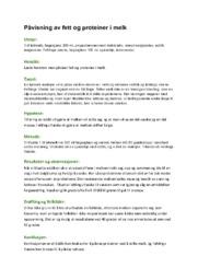 Påvisning av fett og proteiner i melk | Naturfag
