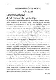 Det Romantiske Lyriske Jaget | Analyse