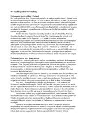 Det engelske parlaments betydning | Historie