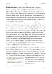 Cross-Cultural Encounters in Poetry | Analyse