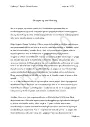Grupper og Sosialisering | Psykologi Oppgave