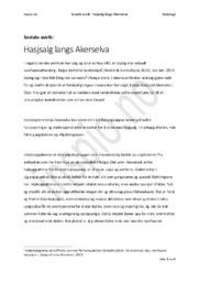Hasjsalg langs Akerselva   Sosiologi og Sosialantropologi