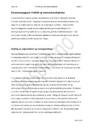 Norsk Politikk | Politikk og menneskerettigheter Oppgave