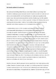 Kunsten å myrde | Cora Sandel | Analyse