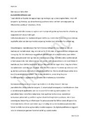 Den nye journalistrollen | Medie- & informasjonkunnskap oppgave