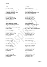 The Reason | Fra engelsk til nynorsk sangtekst | Norsk Oppgave